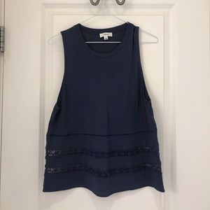 Wilfred navy blue blouse size: S